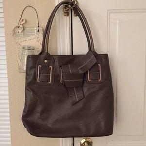NWT Large Tommy Hilfiger brown shoulder bag